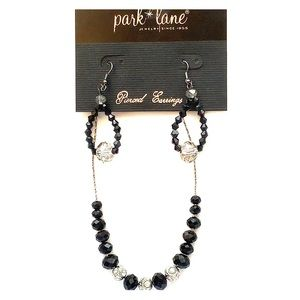 Park Lane Midnight Necklace &Luxedo Earrings